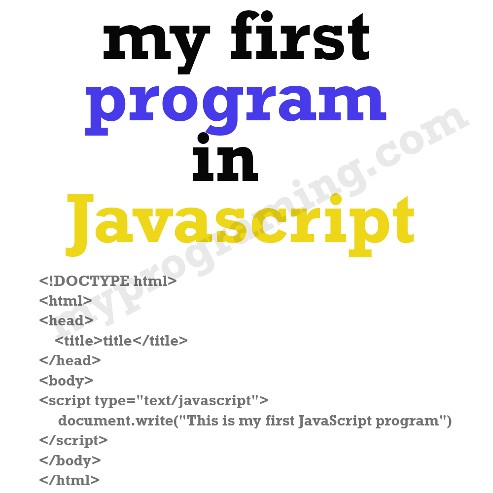 my-first-javascript-program