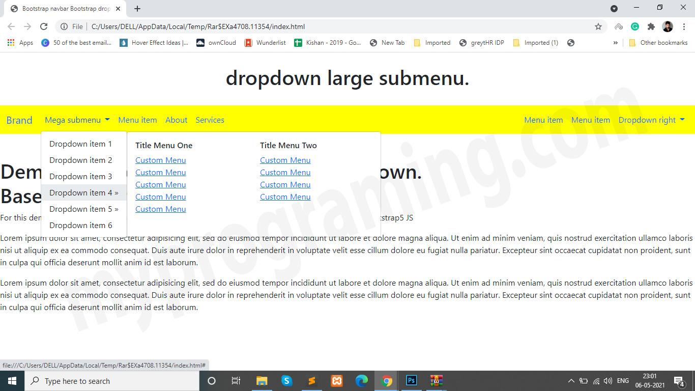 dropdown-with-mega-menu