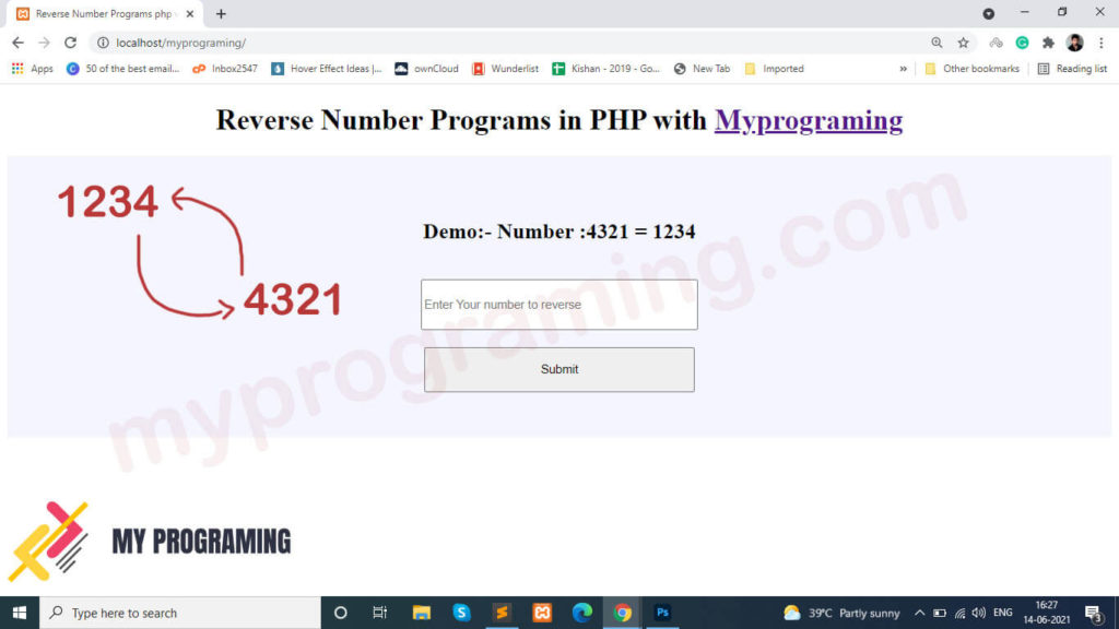 Reverse Number Programs in PHP